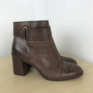 Kork-ease brown leather ankle boots